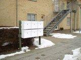 Allux LT150 Ruko zilver brievenbus_