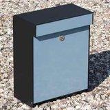 Allux Grundform blauw brievenbus_