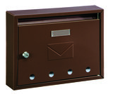 Rottner Tresor Imola bruin brievenbus_