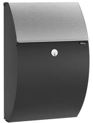 Allux 7000 zwart/roestvrij staal brievenbus