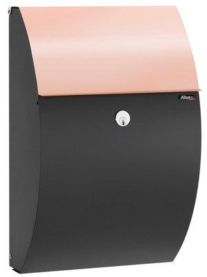 Allux 7000 zwart/koper staal brievenbus
