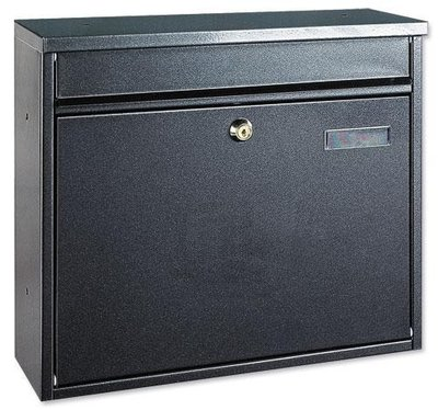 Rottner Tresor Hochhaus II zwart brievenbus