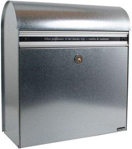 Allux KS200 zilver brievenbus